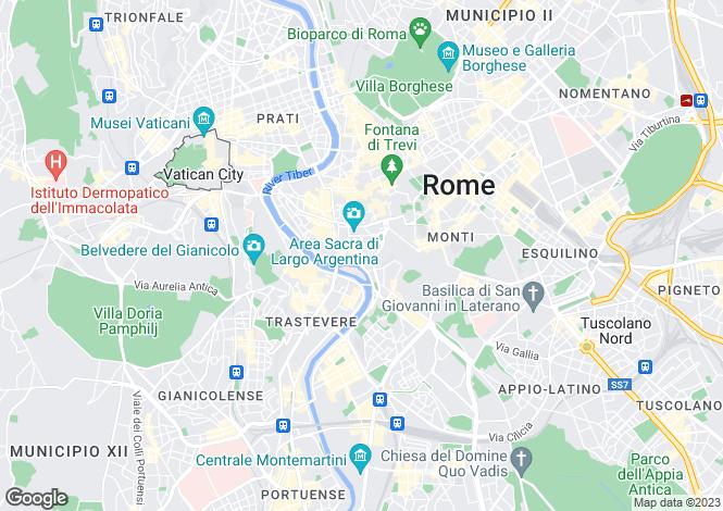 Map for Lazio, Rome