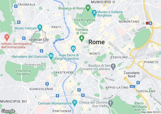 Map for Roma, Roma, Lazio