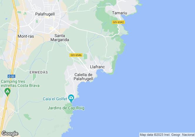 Map for Catalonia, Girona, Llafranc