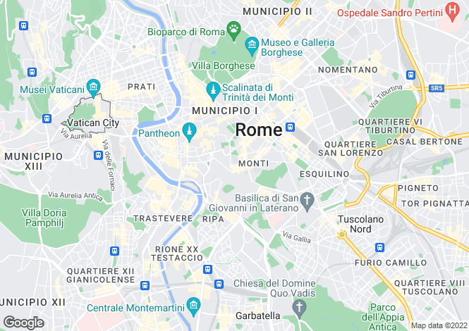 Map for Via Baccina, Roma, 00100, Italy