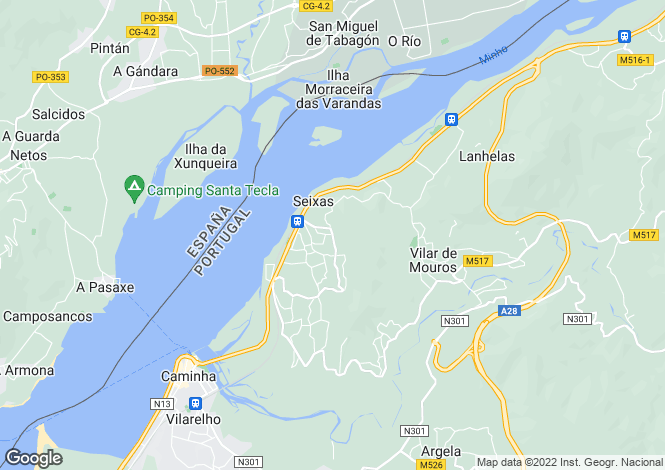 Map for Portugal,Viana do Castelo,Seixas