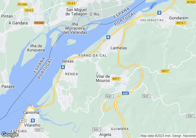 Map for Caminha, Minho