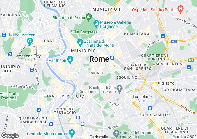 Map for Rione Monti, Roma, 00100, Italy