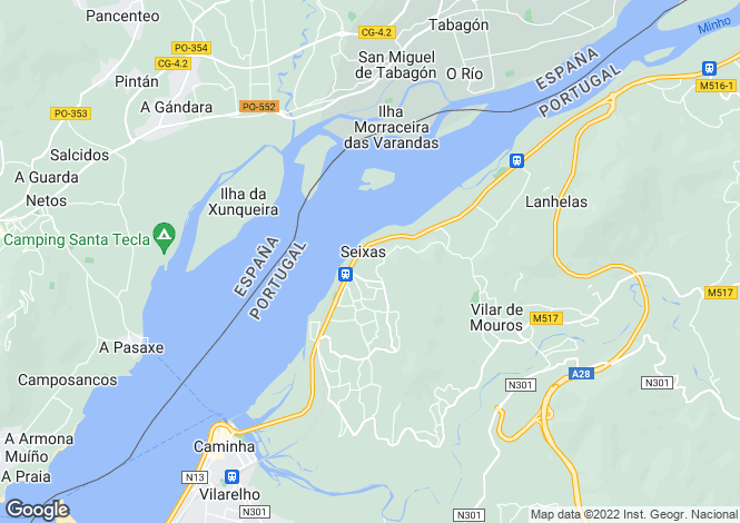 Map for Minho, Seixas