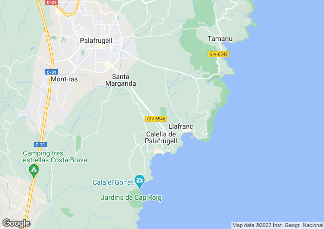 Map for Calella De Palafrugell, Girona, Catalonia