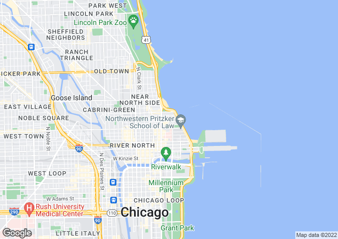 Map for USA - Illinois, Cook County, Chicago