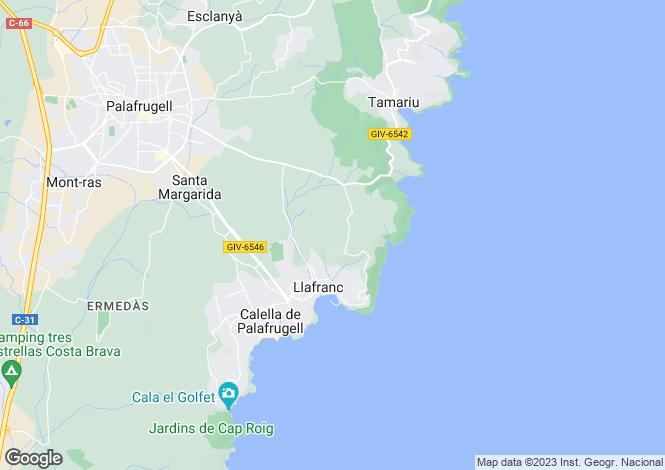 Map for Llafranc, Girona, Catalonia