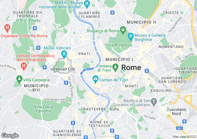 Map for Roma, Rome, Lazio