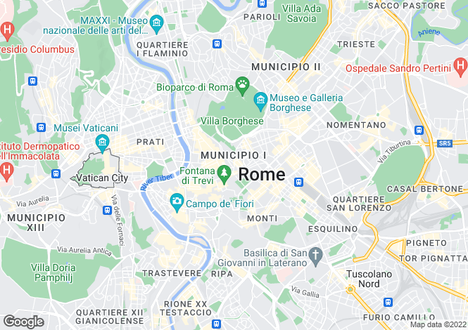 Map for Roma, Rome, Lazio