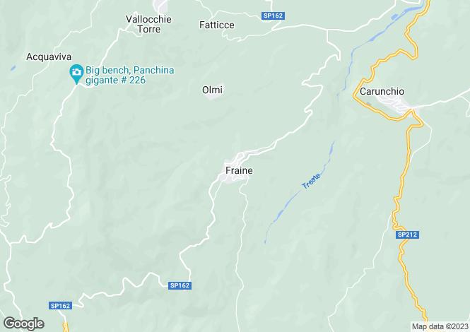 Map for Fraine, Chieti, Abruzzo