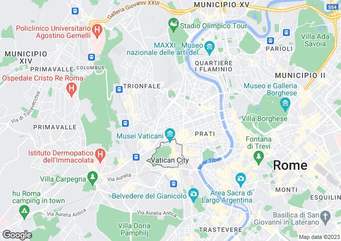 Map for Italy - Lazio, Rome, Roma