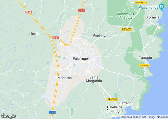 Map for Palafrugell, Girona, Catalonia