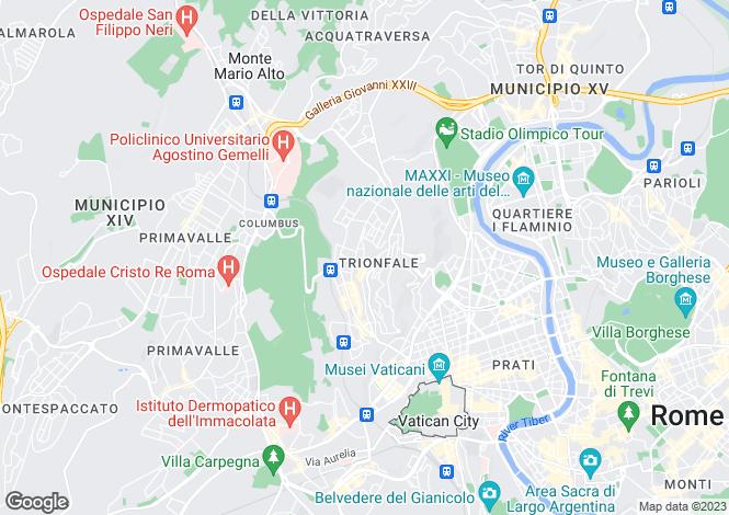 Map for VIa Festo Avieno, Balduina, Rome, Italy