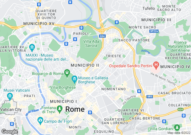 Map for Lazio, Rome