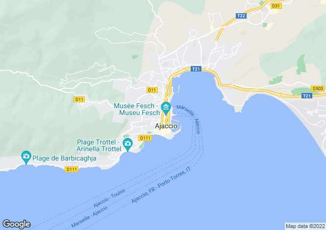 Map for AJACCIO ,France