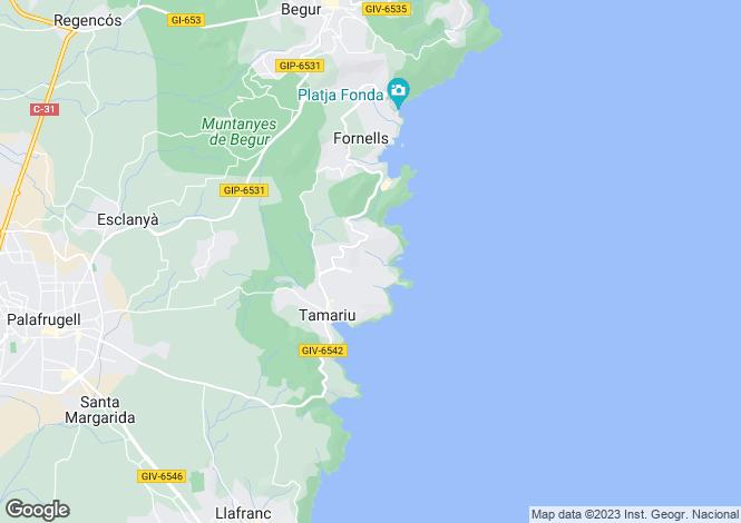 Map for Tamariu, Girona, Catalonia