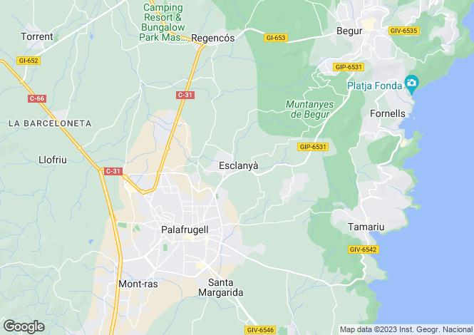 Map for Begur, Girona, Catalonia
