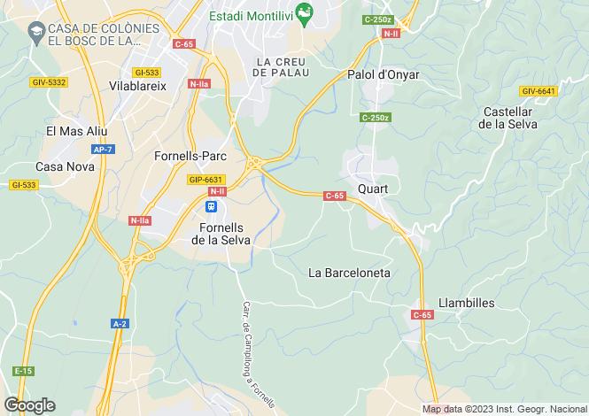 Map for Girona, Girona, Catalonia