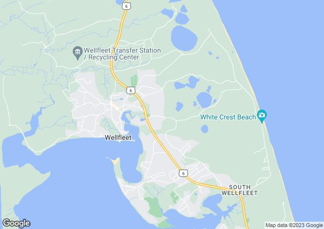 Map for Massachusetts, Barnstable County, Wellfleet