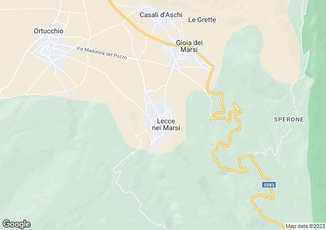 Map for Gioia dei Marsi, L`Aquila, Abruzzo