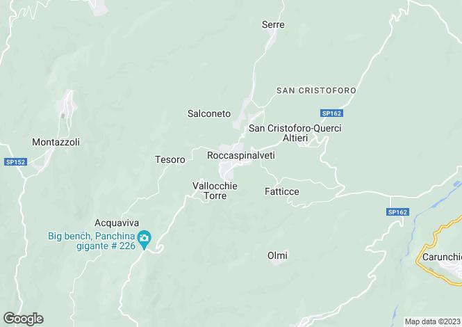 Map for Roccaspinalveti, Chieti, Abruzzo