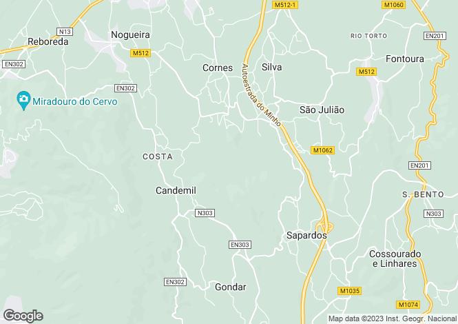 Map for Portugal,Viana do Castelo,Candemil