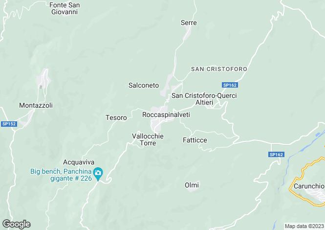 Map for Abruzzo, Chieti, Roccaspinalveti