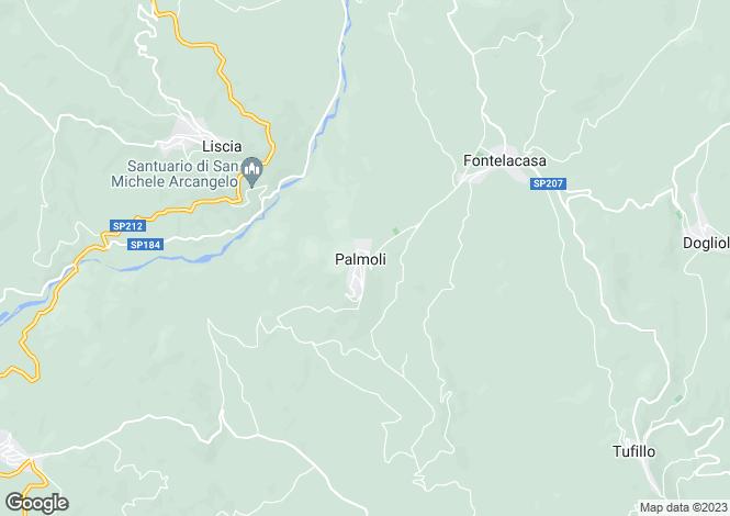 Map for Palmoli, Chieti, Abruzzo