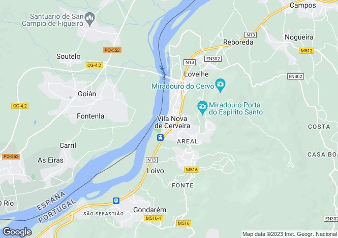 Map for Vila Nova Cerveira, Vila Nova de Cerveira e Lovelhe, Vila Nova de Cerveira