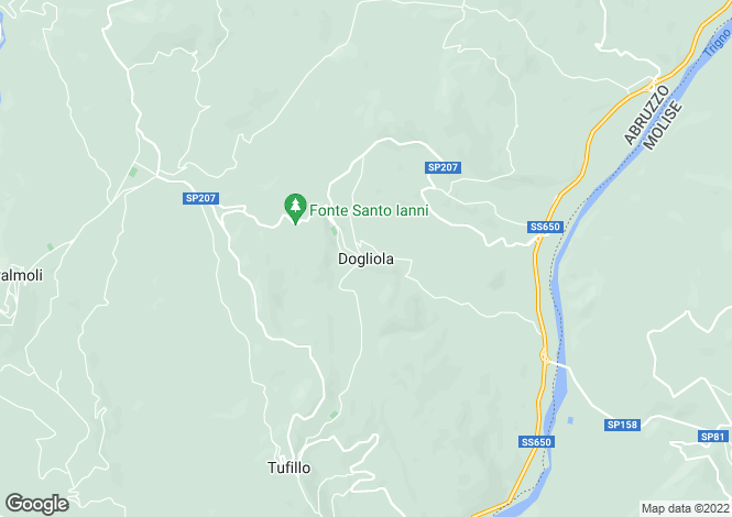 Map for Dogliola, Chieti, Abruzzo
