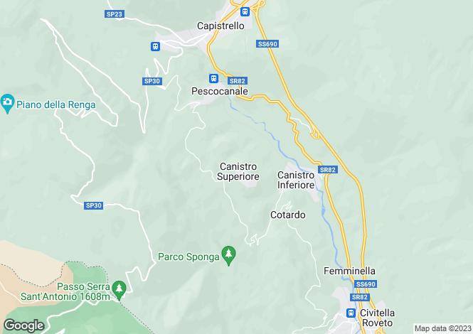 Map for Capistrello, L`Aquila, Abruzzo