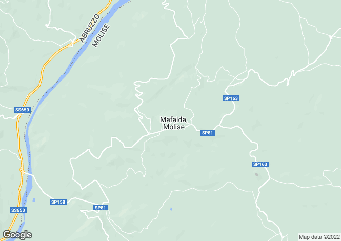Map for Mafalda, Campobasso, Molise