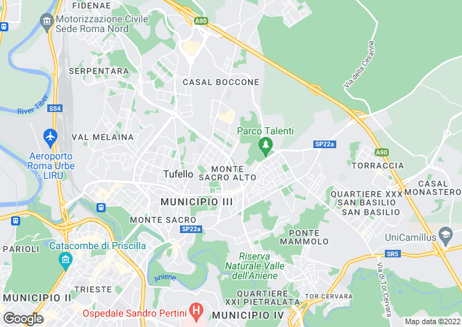 Map for Via Renato Fucini, Roma, 00100, Italy