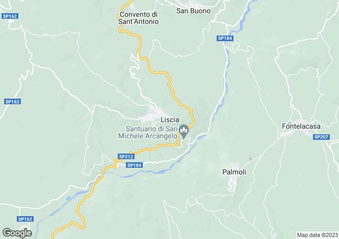Map for Liscia, Chieti, Abruzzo