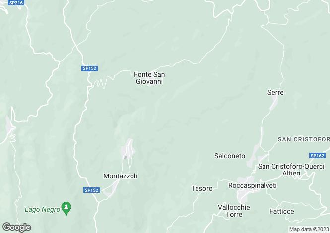 Map for Montazzoli, Chieti, Abruzzo