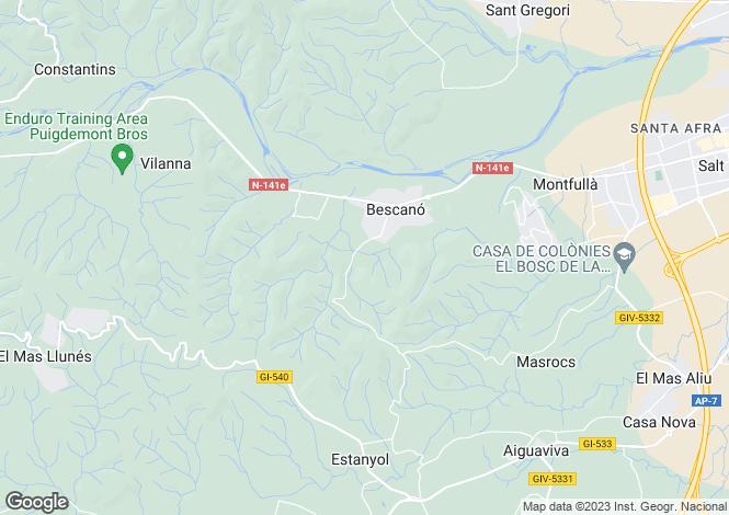 Map for Catalonia, Girona, Bescanó