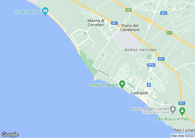 Map for Ladispoli, 00055, Italy