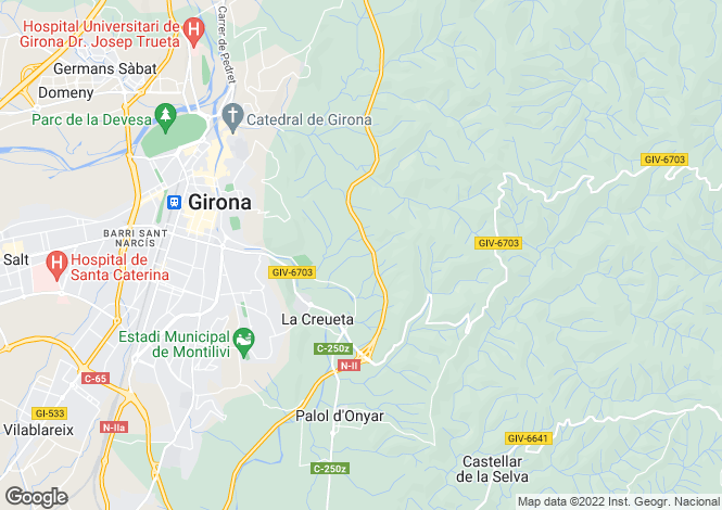 Map for La Pineda Villas, Girona, Catalonia
