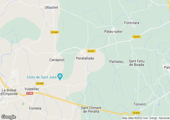 Map for Peratallada, Girona, Catalonia
