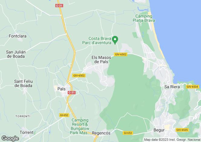 Map for Catalonia, Girona, Pals