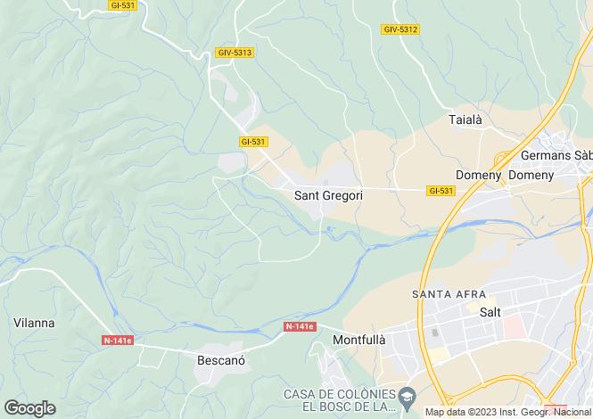 Map for SANT GREGORI, COSTA BRAVA, SPAIN