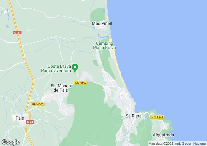 Map for Pals, Girona, Catalonia