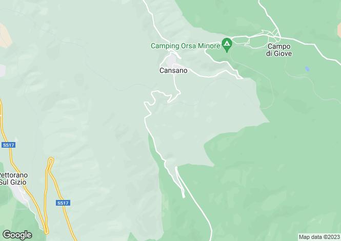Map for Abruzzo, L`Aquila, Cansano