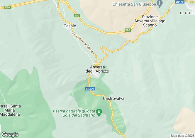Map for Abruzzo, Laquila, Anversa degli Abruzzi
