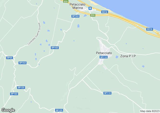 Map for Petacciato, Campobasso, Molise