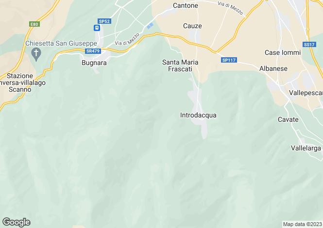 Map for Abruzzo, L`Aquila, Introdacqua