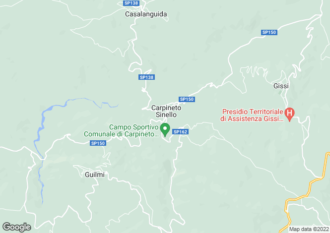 Map for Carpineto Sinello, Chieti, Abruzzo