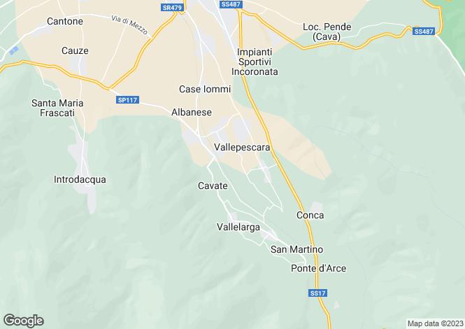 Map for Abruzzo, L`Aquila, Pettorano sul Gizio