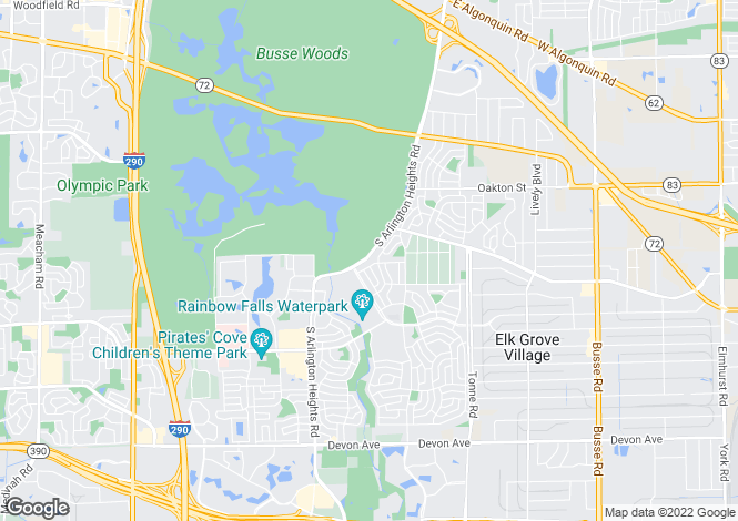 Map for USA - Illinois, Cook County, Elk Grove Village