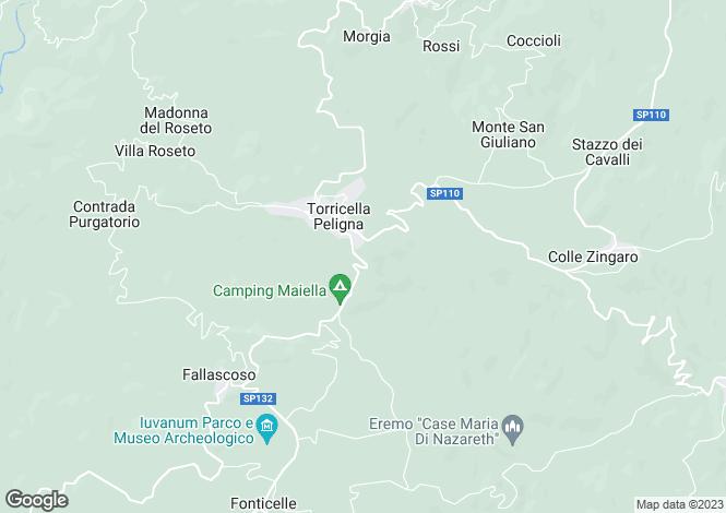 Map for Montenerodomo, Abruzzo, Italy